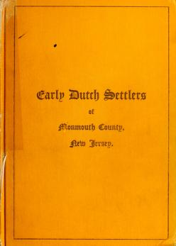 Cover of: Early Dutch Settlers of Monmouth County, New Jersey by George Crawford Beekman