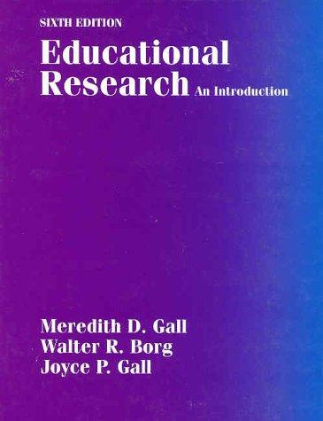 Educational research by Meredith D. Gall