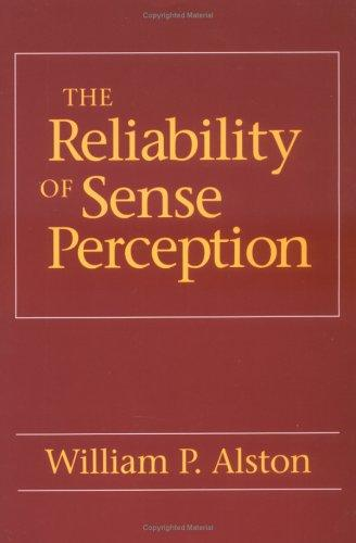 The reliability of sense perception