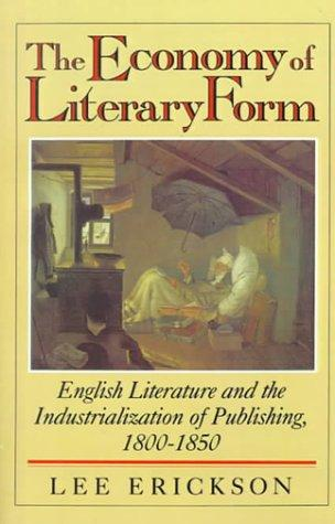 Download The Economy of Literary Form