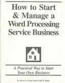 Download How to Start and Manage a Word Processing Service Business