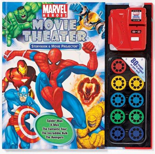 Marvel Heroes Storybook and Movie Projector (Movie Theater Storybooks) by Michael Teitelbaum