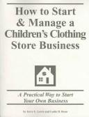 How to Start & Manage a Children's Clothing Store Business